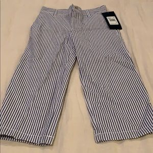 Other - Blue and white seersucker pants- NWT